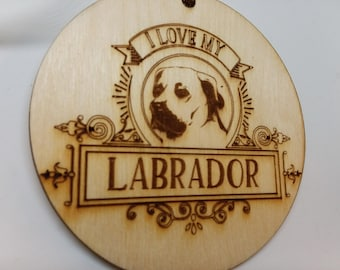 I LOVE My Labrador, Dog Ornament, Labrador Dog Gift, Dog Owner Gift, Labrador Christmas Gift, Gift For Dog Owner, Labrador Gift