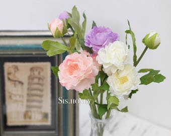 Artificial Flower ranunculus Silk Flowers Faux flower