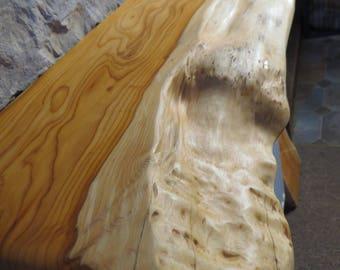 Leben Sie BeamFloating Kaminsims Rand, Kaminkaminsimse, Waney Natürliche  Rand Holz, Live Eibenholz,
