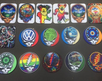 Grateful Dead Patches Iron On Custom(buy 4 get 1 free)