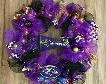 Baltimore Ravens LED Wreath