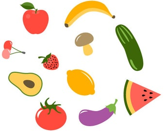 Fruit and Veggie SVG