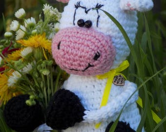 Crochet Cow Pattern Amigurumi Cow pattern Cow Amigurumi Cow Toy PDF Pattern in English Crochet cow pattern