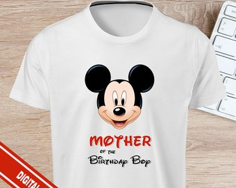 Mickey Mouse Mother of The Birthday Boy T-shirt Iron On - INSTAND DOWNLOAD