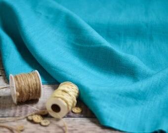 Linen, Linen clothes, Linen dress, Linen tunic, Linen trousers, Linen Fabric, European Linen, Flax, soft feel, natural fibre, Turquoise.