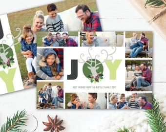 Joy Reindeer Christmas Card