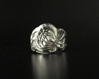 Manchester Chrysanthemum Spoon Ring Sterling Silver 6