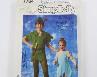 Peter Pan and Tinkerbell, Adult Size Small, Vintage Simplicity 7784 - Uncut, OOP