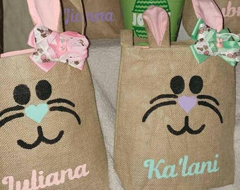 Personalized Easter Bunny Bags