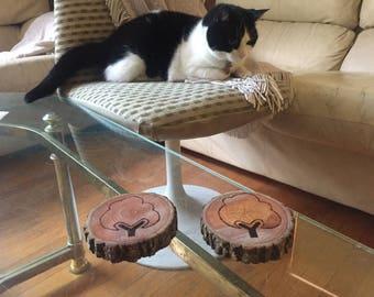 Natural Wooden Coasters (Custom Woodburning Available)