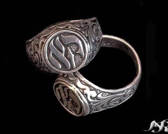 Kabbalah Lucky Ring Prosperity Sterlig Silver Energy Gifts Handmade