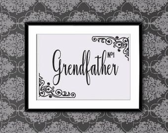 Grendfather Number One, Now, Now Poster, Now Printable, Motivational Quotes, Black Print, Wall Art, Format A4
