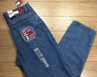 Tommy Hilfiger Bootleg Freedom Jeans Vintage 33x30 Mens New Tags 90's