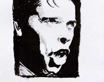 Portrait of Jacques Brel
