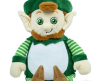 Personalised embroidered lepricorn Irish cubbie