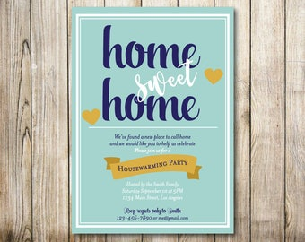 Home Sweet Home -House Warming Party Invitation - Digital Invitation