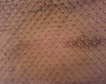 Minky Dot Fabric in Cocoa Brown