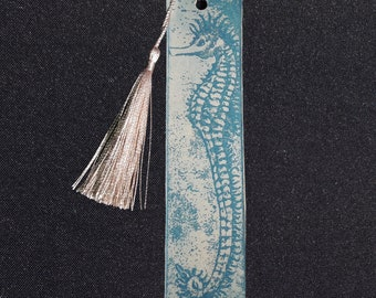 Beautiful Turquoise Blue Koi Fish Etched Bookmark Enhances Your Reading