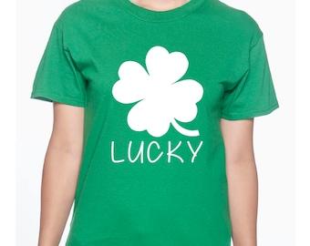Lucky with four leaf clover