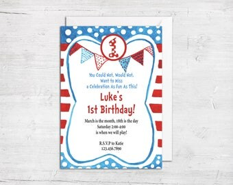 dr seuss birthday card template - dr seuss template etsy