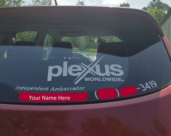 Plexus Decal Etsy - Window decals for vehicles personalized