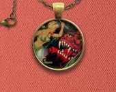 Weird Tales American Fantasy and Horror Fiction Pulp Magazine Cover Pin, Magnet, Keychain, or Necklace
