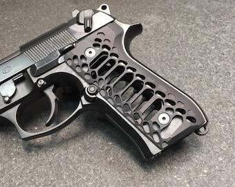 BERETTA 92/96 Series Grips -Cobra Skeleton-black