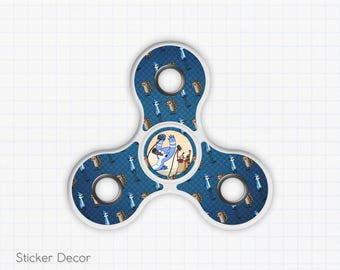 Regular Show, Mordecai and Rigby, Fidget Spinner Sticker Decal, Fidget Toy, Hand Spinner, Stress Toy
