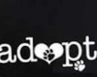adopt dog sticker