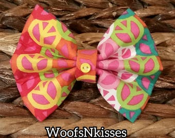 Peace & Happiness Bow Tie