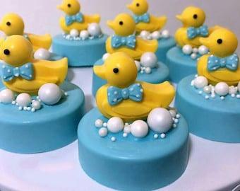 Duck Baby Shower Oreos