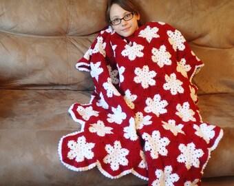 Crochet Snowflake Throw