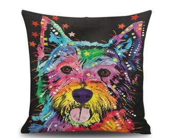Terrier pillow cover