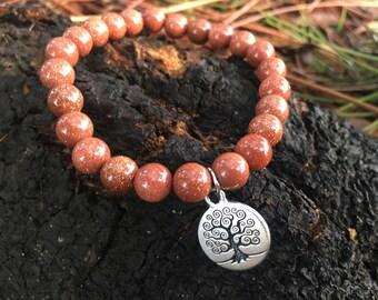 Fiery Goldstone Bracelet
