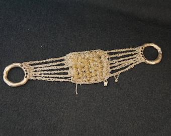 ARIELLE DEPINTO Woven Crochet Sterling Silver Bracelet