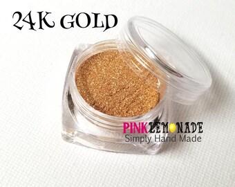 Eyeshadow - Eye Shadow - Gold - Mica - Loose Powder - Shimmer - Natural Makeup - Make-up - Pretty Minerals - Mineral Shadow
