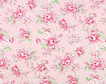 PINK PEONIES GUTTERMAN COTTON FABRIC