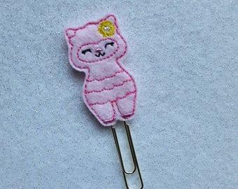 Pretty Llama Planner Feltie Clip.  Paperclip.  Felt Clip. Planner Gifts.  Stationery.