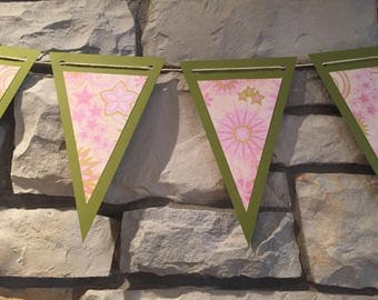 4.5 ft. Pink and Green Banner