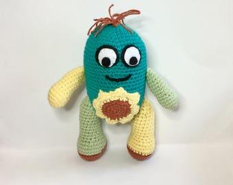 Crochet Flower Belly Monster