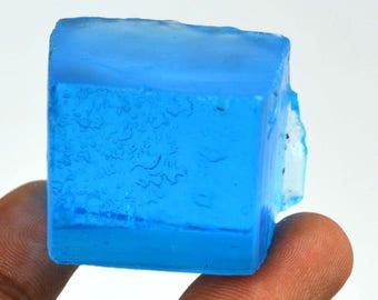 323 Ct. Uncut Brazilian Swiss Blue Topaz Gemstone Rough Christmas Gift