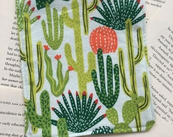 Small Bag - Cactus/Succulents Flannel Pattern