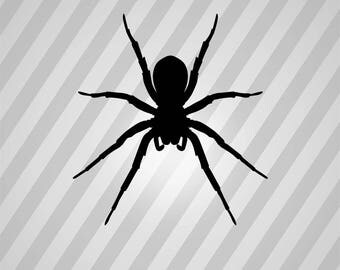 Spider Silhouette Spiders - Svg Dxf Eps Silhouette Rld RDWorks Pdf Png AI Files Digital Cut Vector File Svg File Cricut Laser Cut