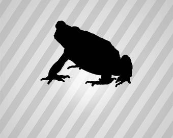 toad Silhouette - Svg Dxf Eps Silhouette Rld RDWorks Pdf Png AI Files Digital Cut Vector File Svg File Cricut Laser Cut