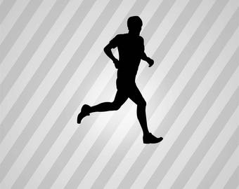 runner Silhouette - Svg Dxf Eps Silhouette Rld RDWorks Pdf Png AI Files Digital Cut Vector File Svg File Cricut Laser Cut