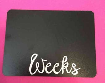 "Weekly pregnancy 6x8 "" monthly chalkboard"