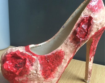 Zombie shoes-horror-walking dead-wedding