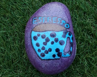 Hand painted 'Espresso' stone