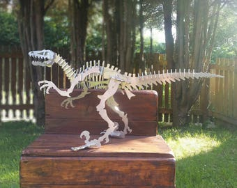 Large Velociraptor Dinosaur Stainless Steel