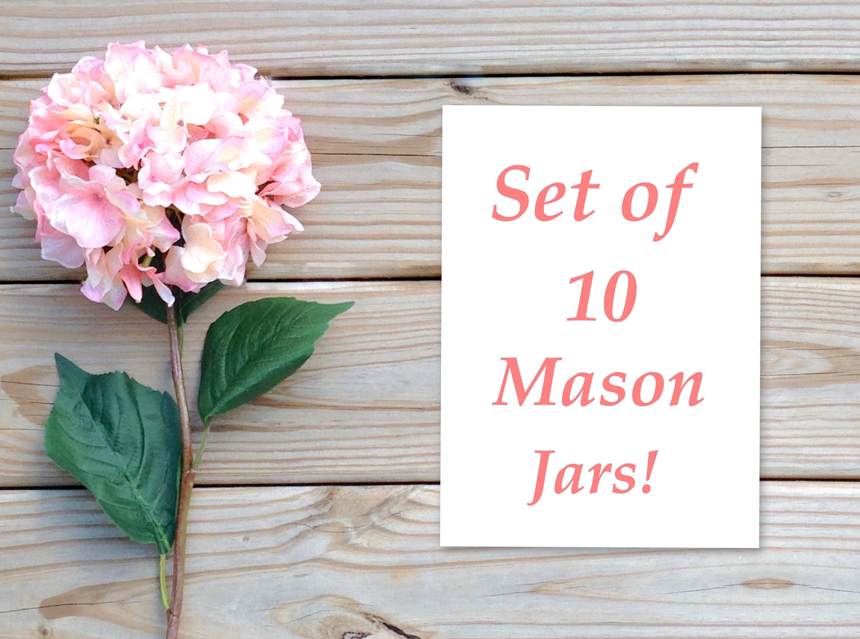 Custom order for 10 quart size mason jars, Mason jar decor,wedding ...
